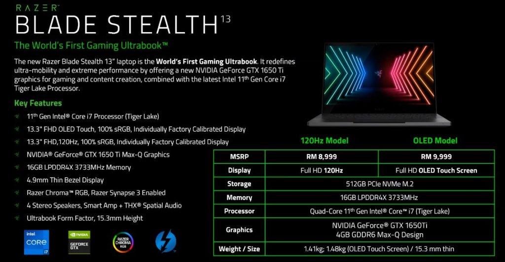 Razer Blade Stealth 13 specs