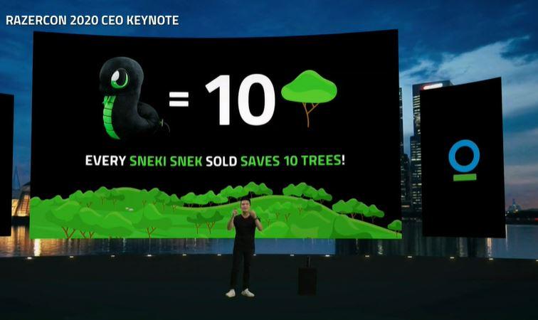 Razer Sneki Snek Plushies save trees