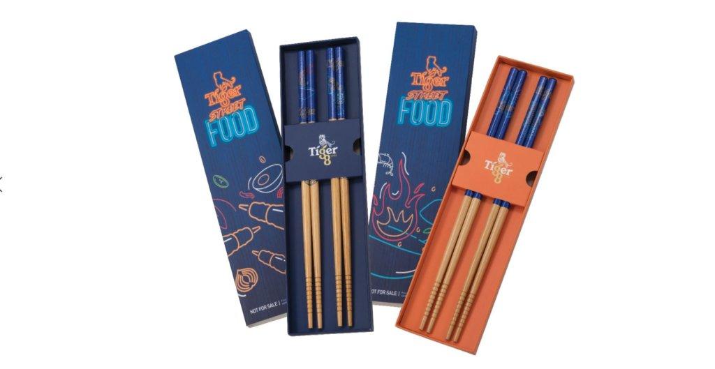 Tiger Street Food Virtual Festival chopsticks