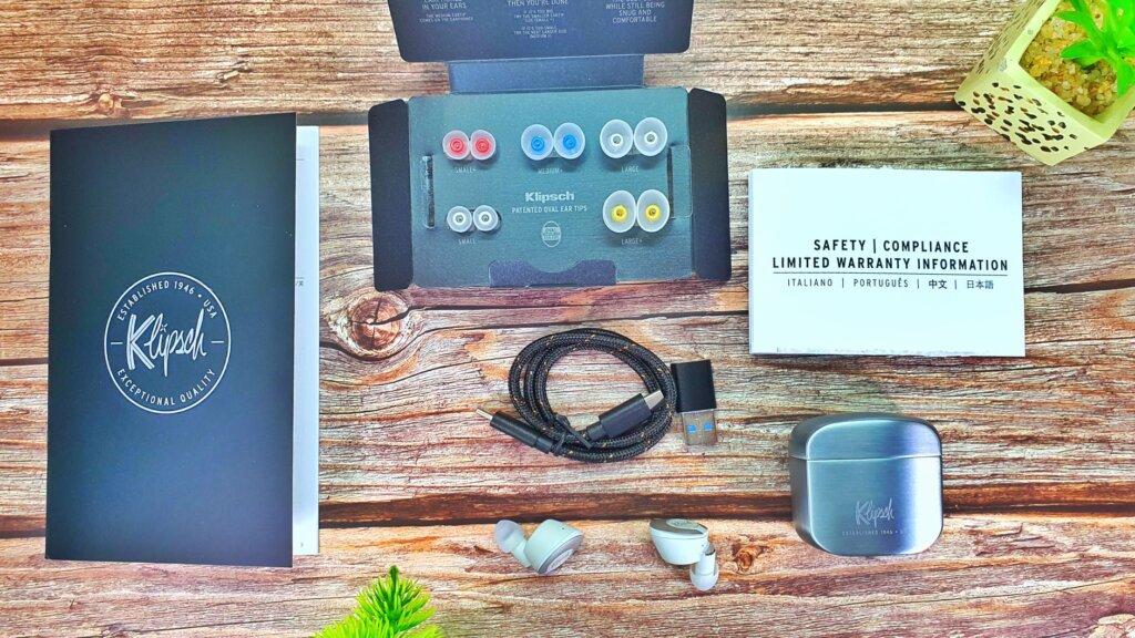 Klipsch T5 II True Wireless box contents