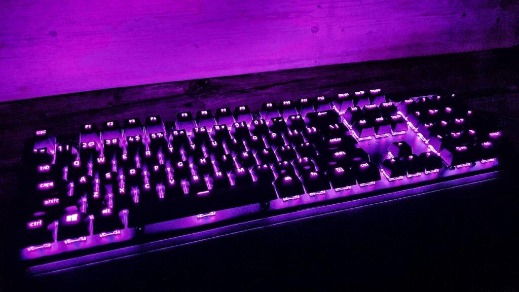 Razer BlackWidow V3 purple colour