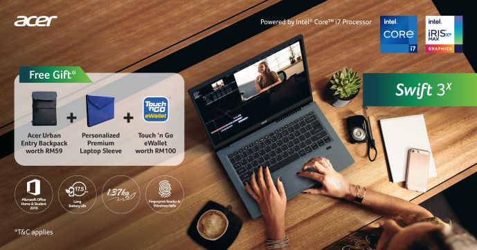 Acer Aspire 5 and Swift 3X laptops with 11th Gen Intel Core CPUs now in Malaysia 3