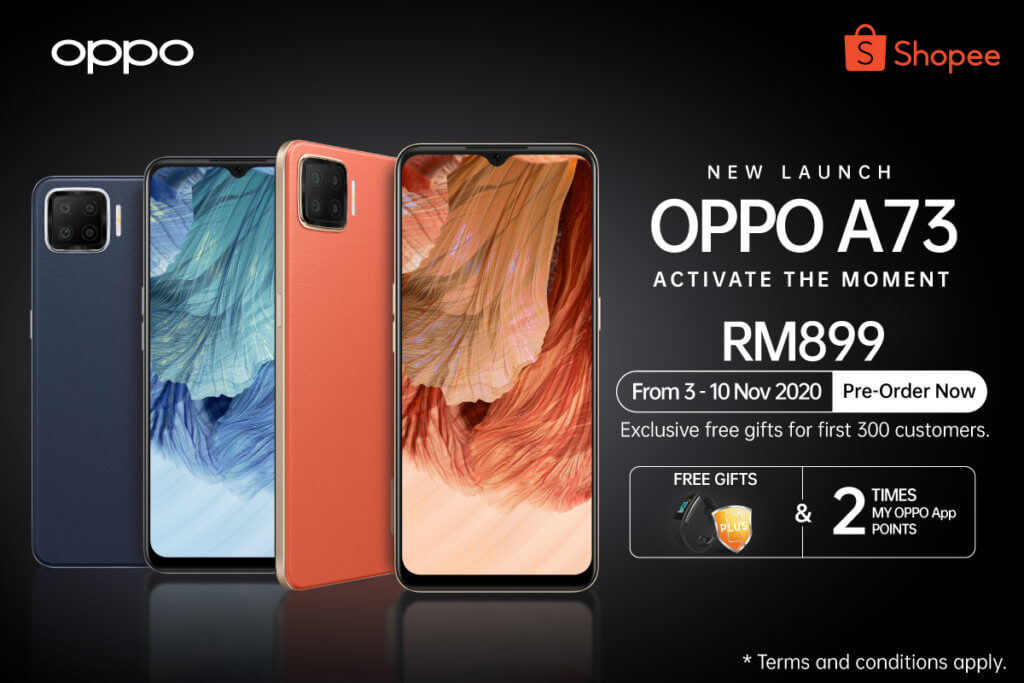 OPPO A73 priced at RM899 arriving this 11.11 as a Shopee exclusive 2