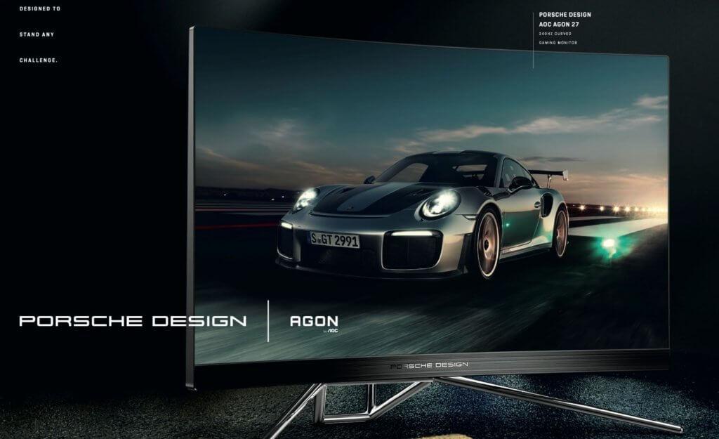 Porsche Design AOC AGON PD27 gaming monitor features sleek design & 240Hz refresh rate 1