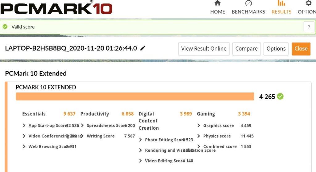 ASUS ZenBook 14 UX425E review pcmark 10
