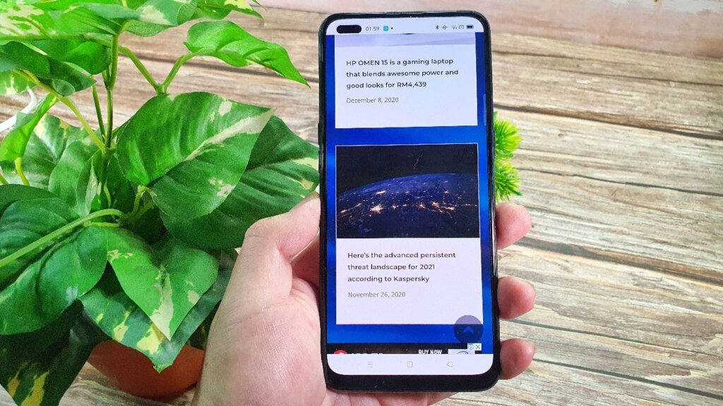 OPPO A93  display