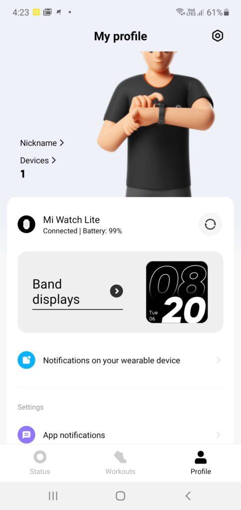Xiaomi Mi Watch Lite Review setup 2