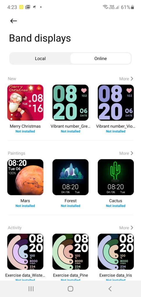 Xiaomi Mi Watch Lite Review band options 1