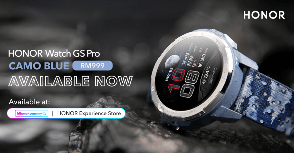 HONOR Watch GS Pro smartwatch in Camo Blue now available for RM999 1
