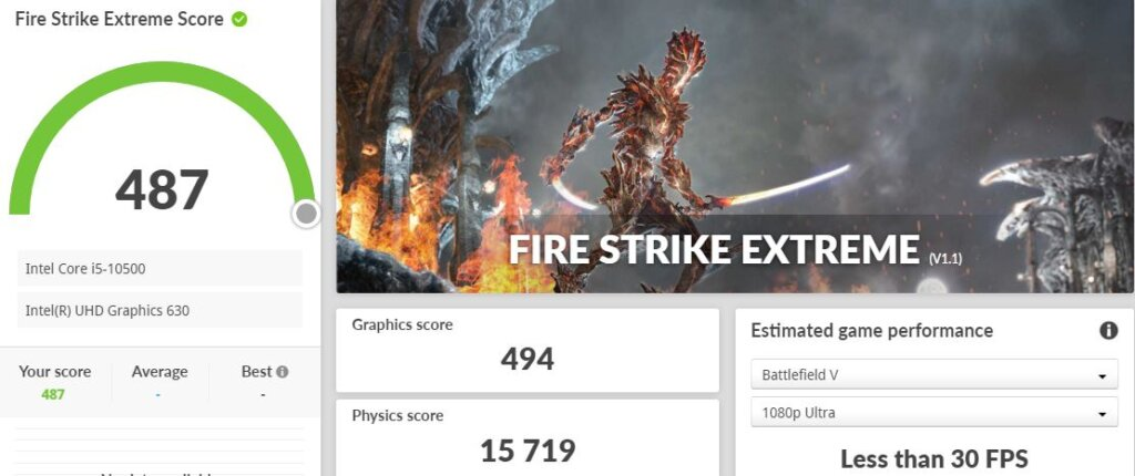 ASUS ExpertCenter D3 Tower D300TA fire strike extreme