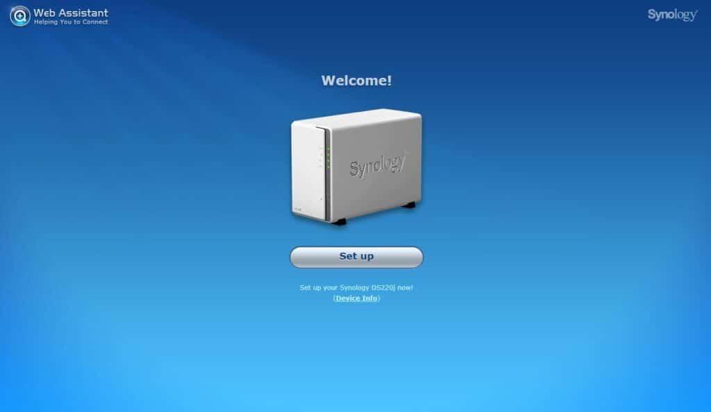 Synology DiskStation DS220j  step 1