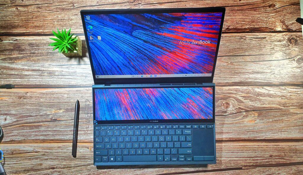 ASUS ZenBook Duo 14 UX482 top look wrapup