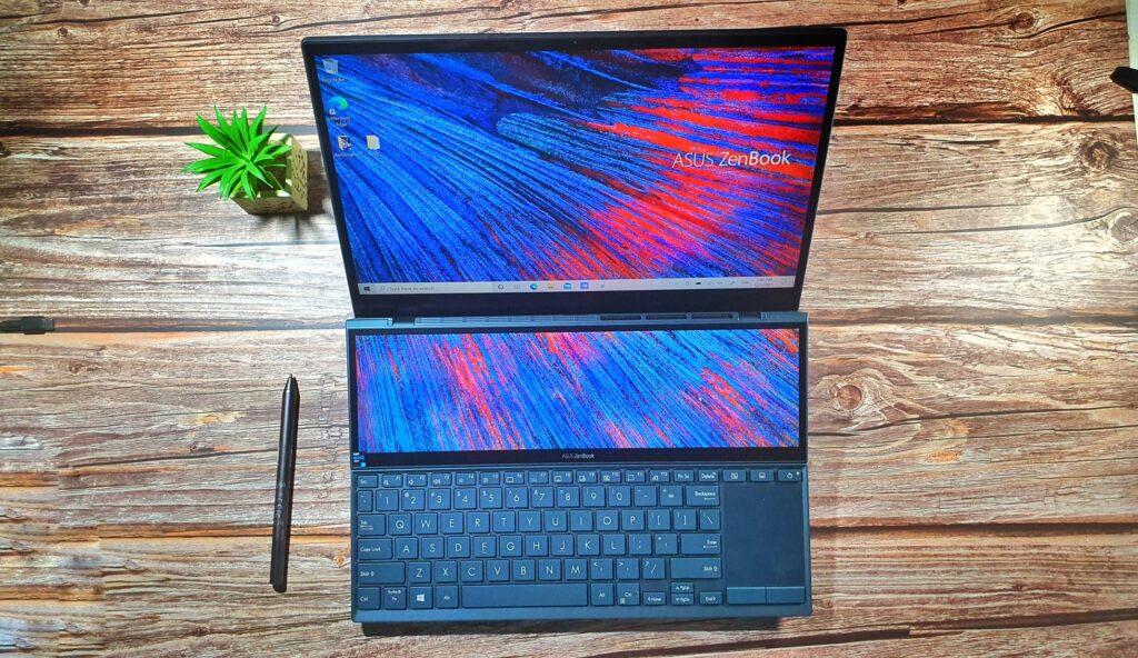 ZenBook Duo 14 UX482 top down
