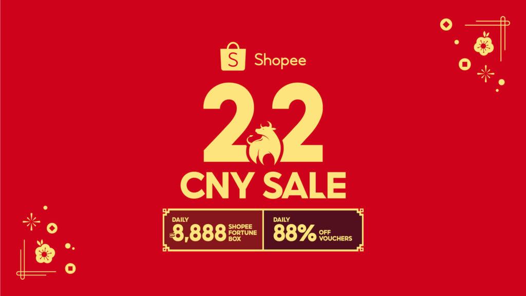 Shopee 2 2 CNY sale