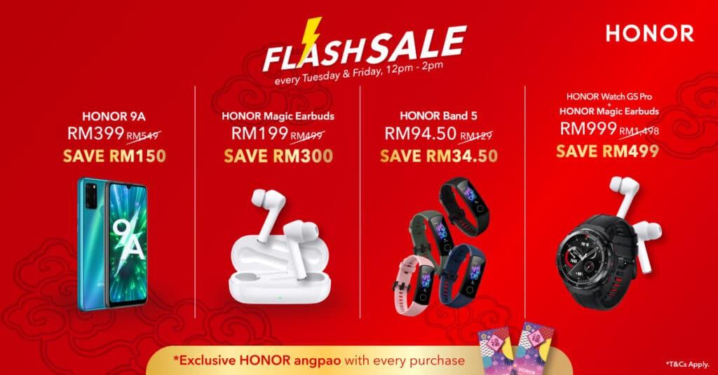 Honor niu year flash sale