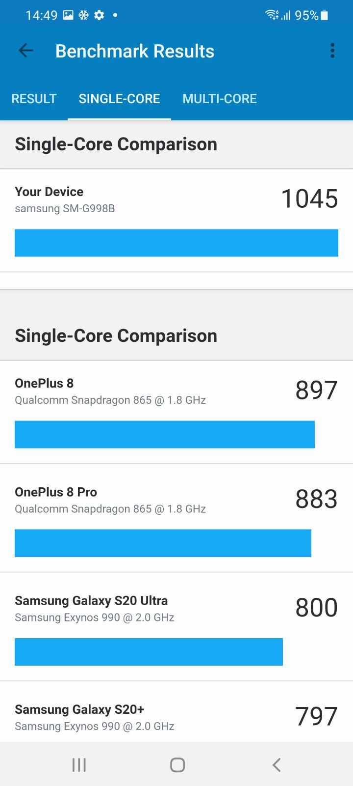 Samsung Galaxy S21 Ultra 5G Review single core