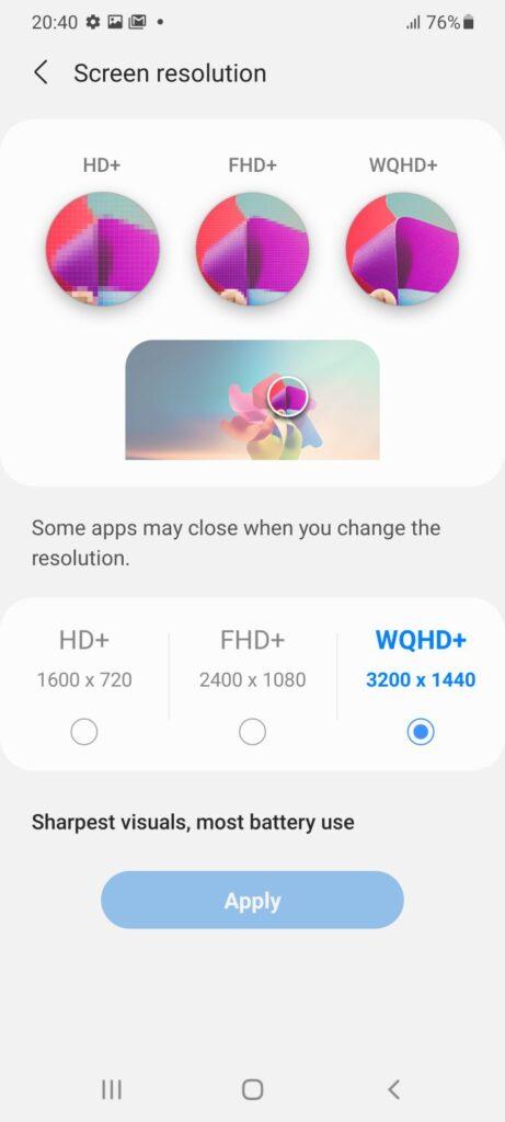 Samsung Galaxy S21 Ultra 5G review display