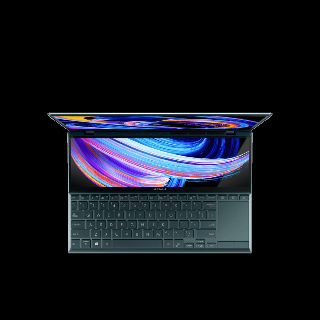 ASUS ZenBook Duo 14 UX482 top down