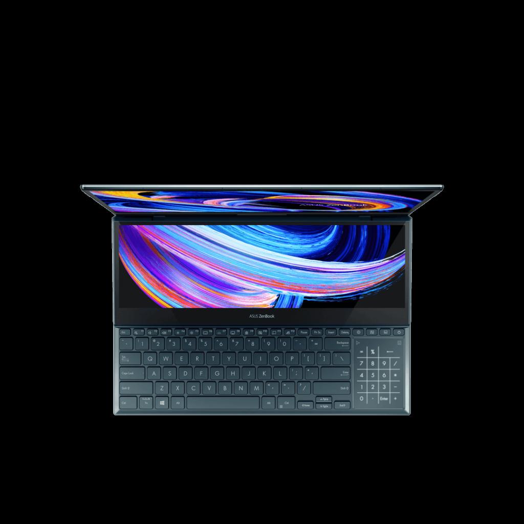 ASUS ZenBook Pro Duo 15 OLED UX582 top look