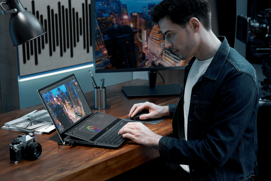 ZenBook Pro Duo 15 OLED UX582 hero shot