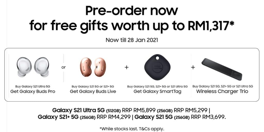 Samsung Galaxy S21 Ultra preorder