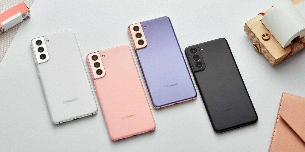 Samsung Galaxy S21 colours