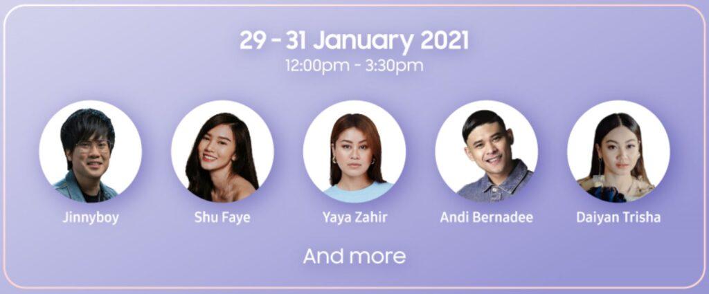 Samsung Virtual Tech Festival influencers