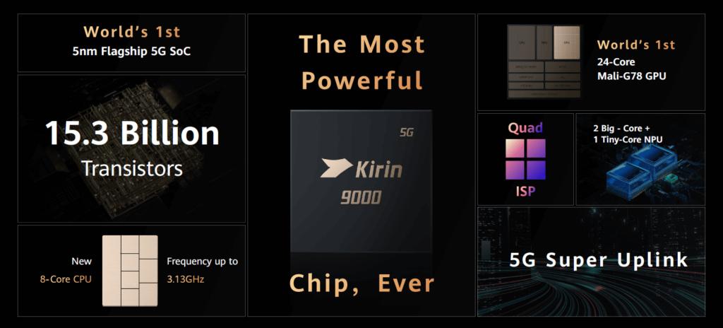 huawei mate x2 art kirin 9000 CPU