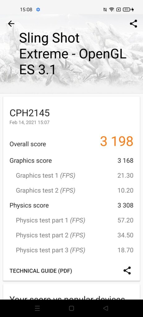 OPPO Reno5 5G Review open gl es 3.1