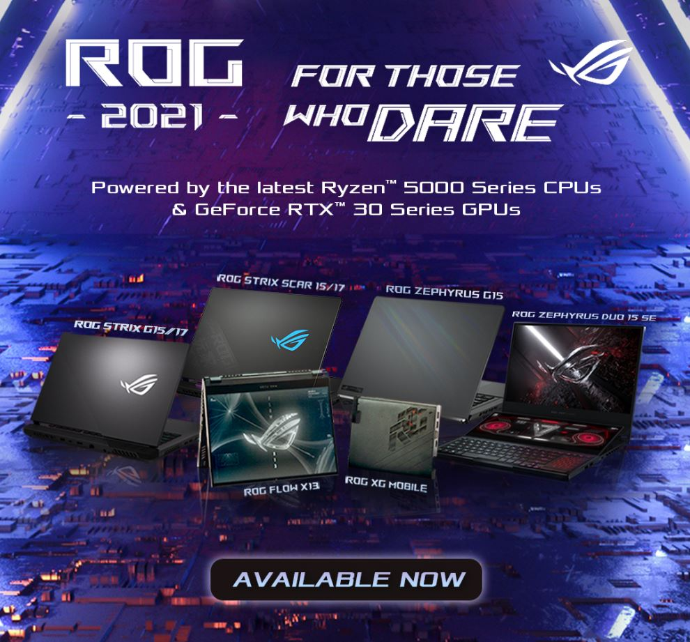 ROG CES 2021 laptop prices group shot
