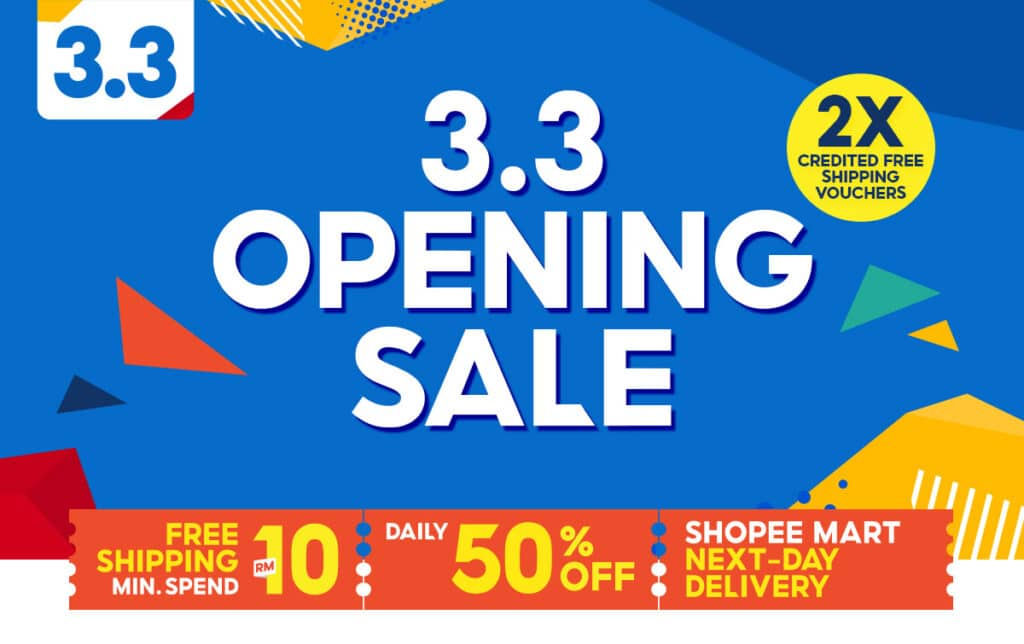 Shopee 3.3 Supermarket Sale box