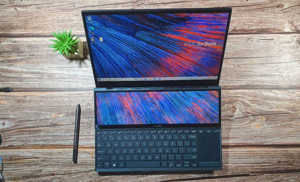 ASUS ZenBook Duo14 UX482 Review top lid