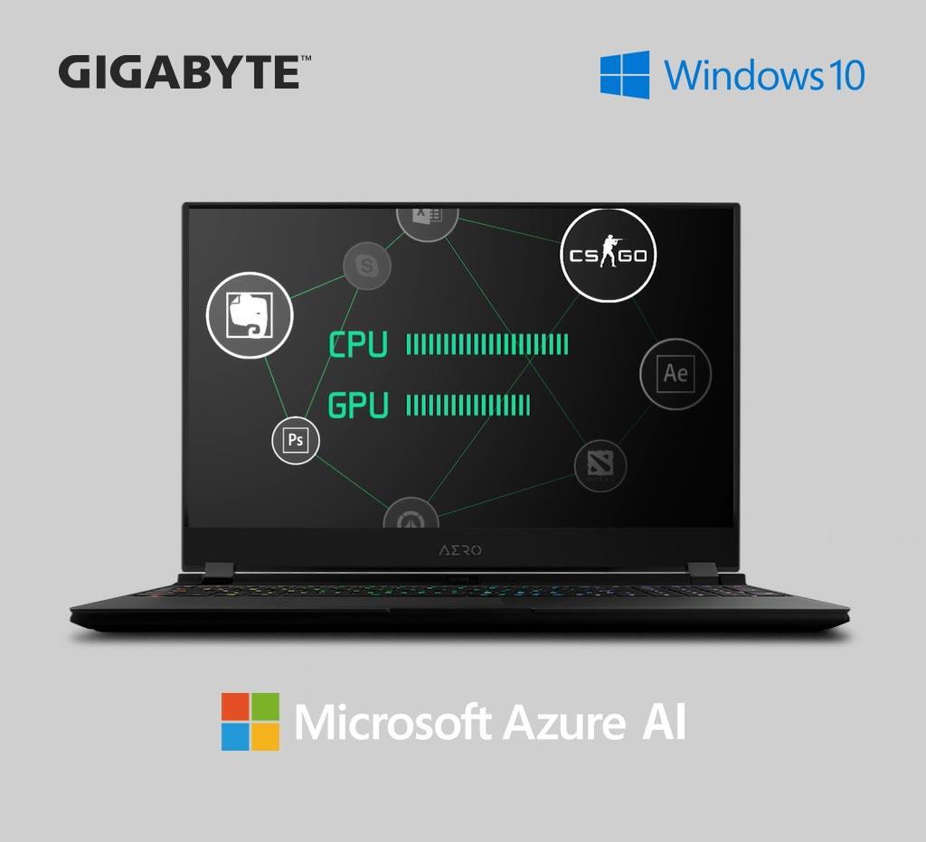 Azure AI content creator laptop AERO