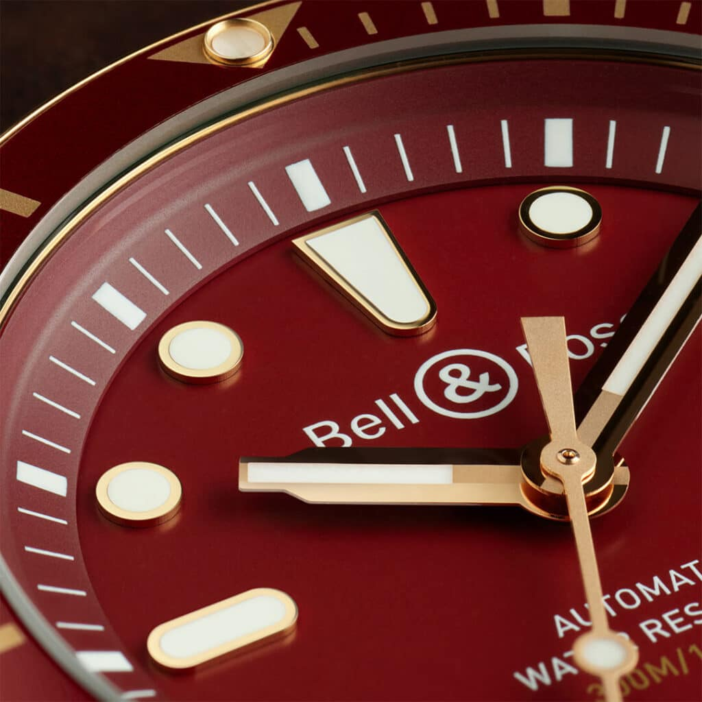 BR 03-92 Diver Red Bronze  dial