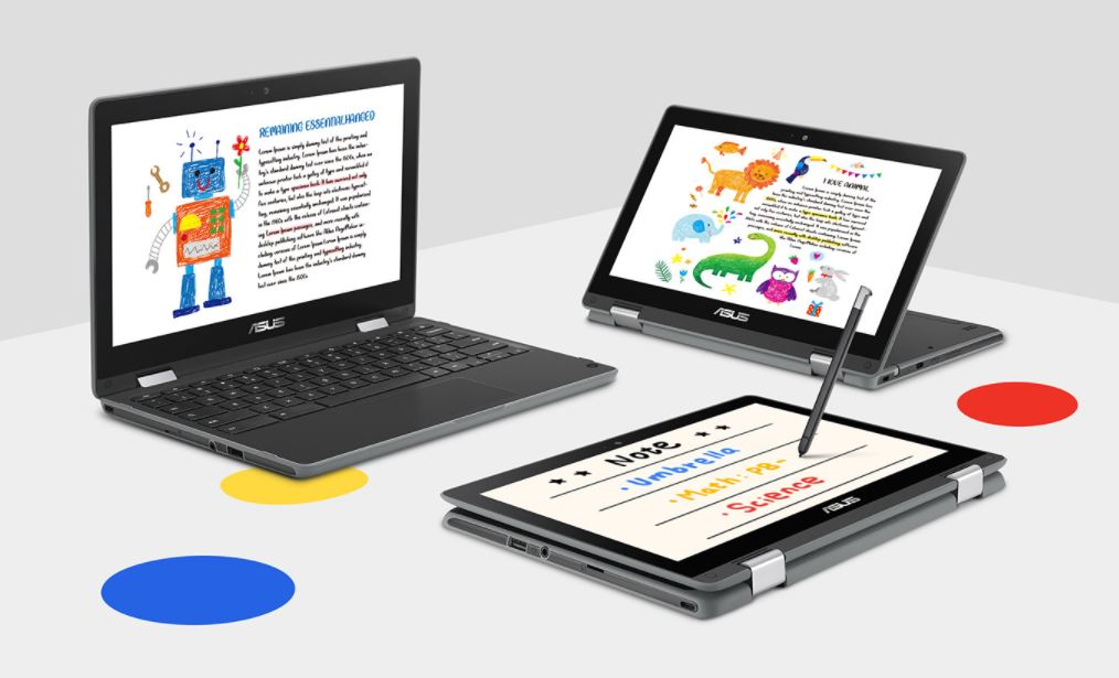ASUS Chromebook Flip C214 form factors