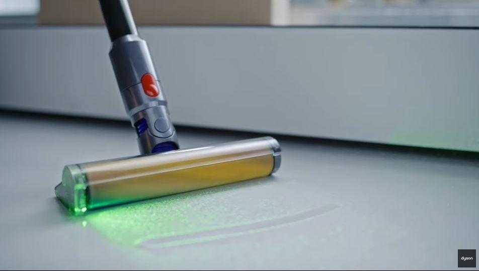 Dyson V15 Detect cordless vacuum light