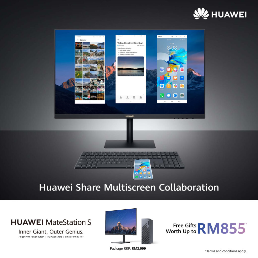 Huawei MateStation S multi screen collaboration