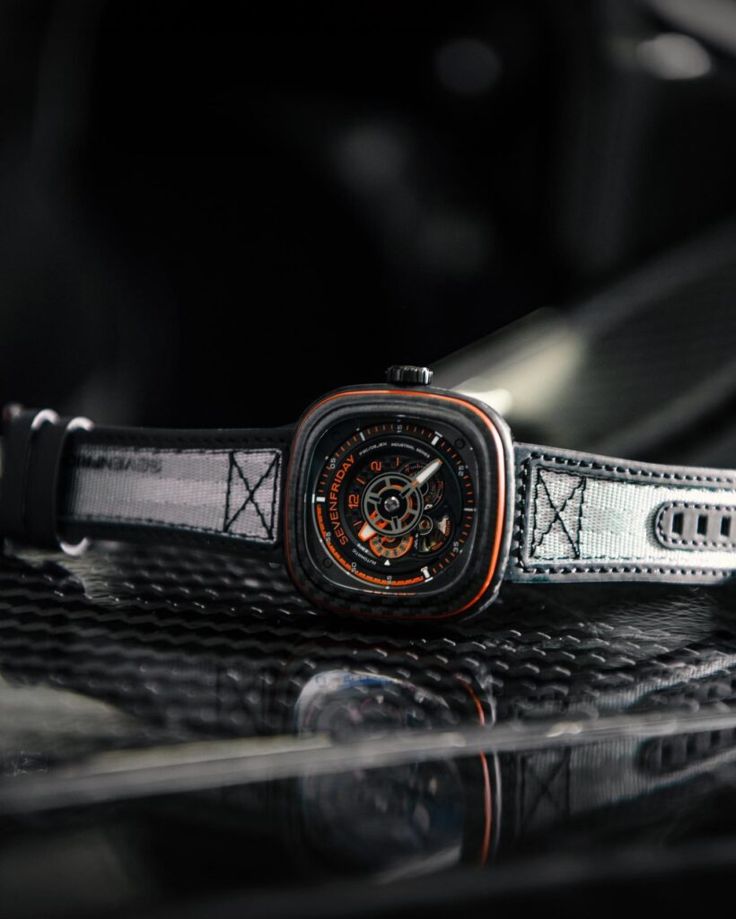 SevenFriday P3C/09 Orange Carbon side