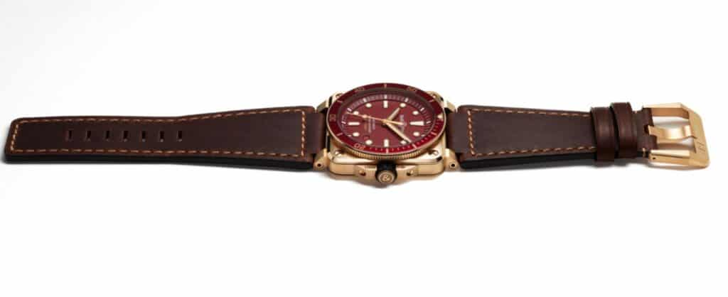 BR 03-92 Diver Red Bronze  leather