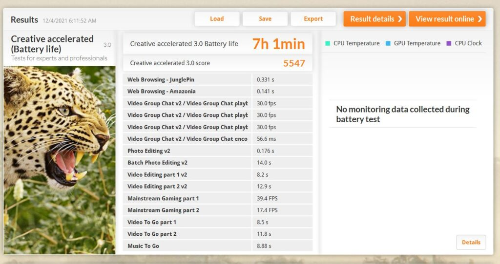 Dell Latitude 7320 2-in-1 Review  battery life