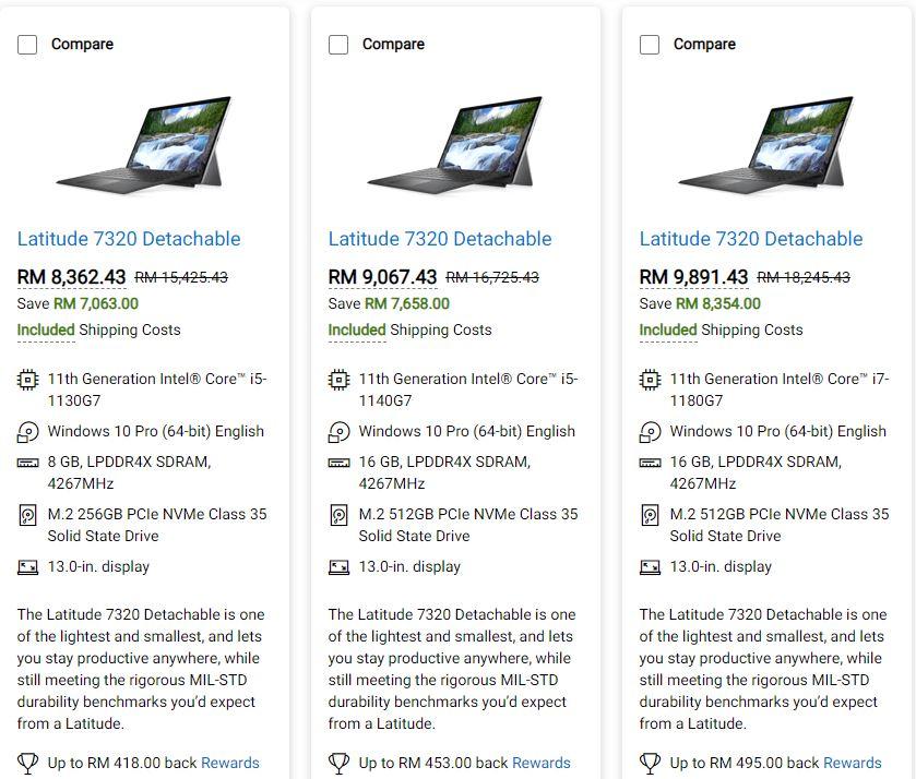 Dell Latitude 7320 detachable prices