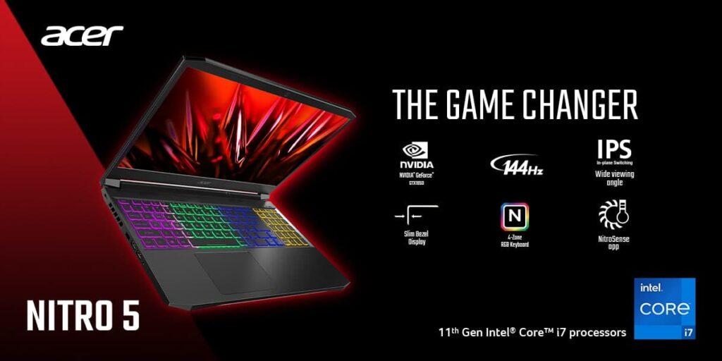 Acer Predator Helios 300 Nitro 5 2021 gaming laptop red