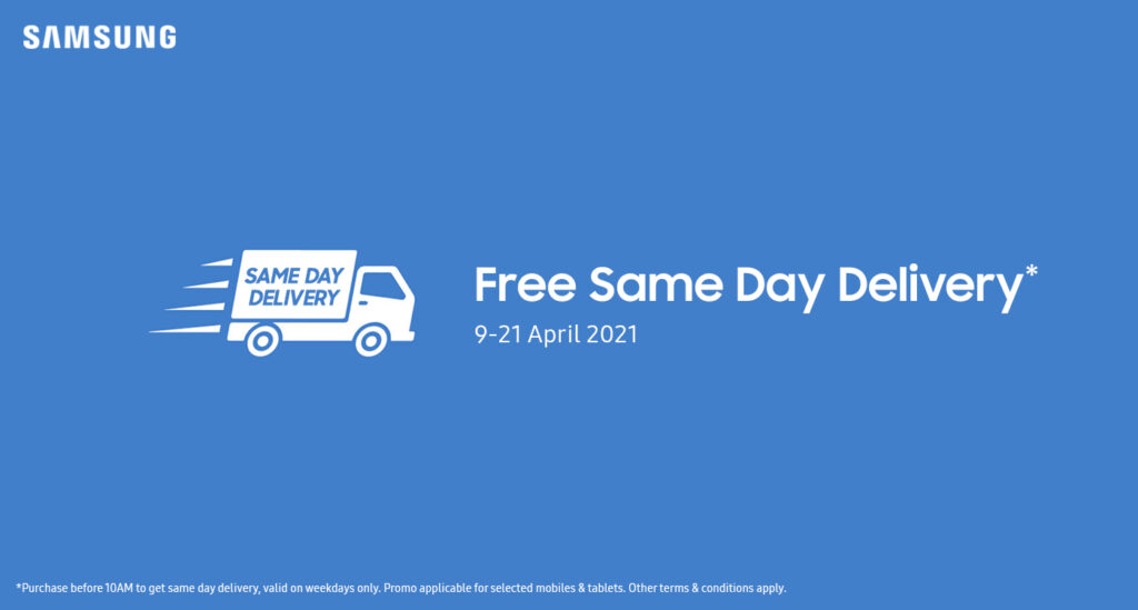 Samsung same day delivery