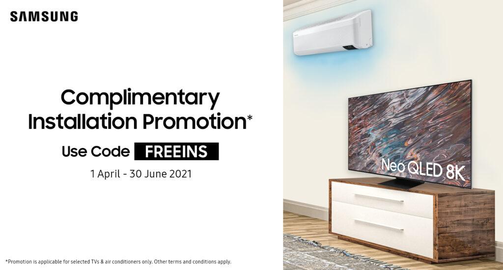 Samsung free TV install