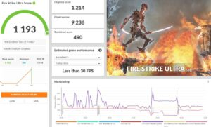 Dell Latitude 7320 2-in-1 Review Fire Strike Ultra