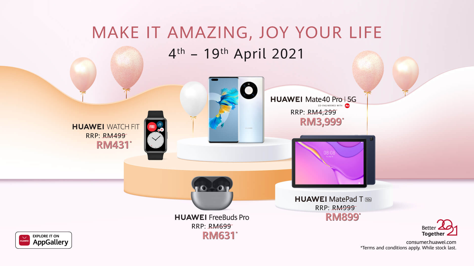 Huawei Make it Amazing list