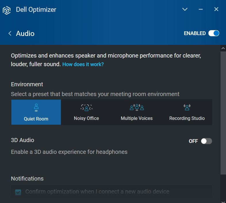 Dell Latitude 7320 2-in-1 Review Audio Enhancements
