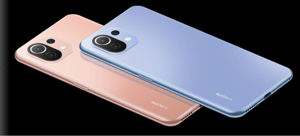 Xiaomi Mi 11 Lite colours 2
