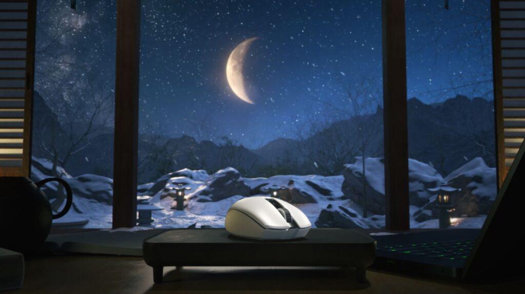 Razer Orochi V2 wireless mouse front moon