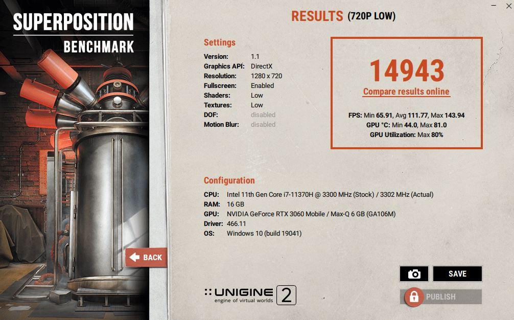 ASUS TUF Dash F15 FX516PM Review 720p low